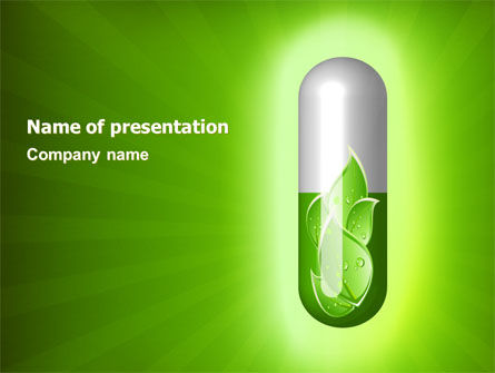 Nature & Environment: Homoeopathy PowerPoint Template #06972