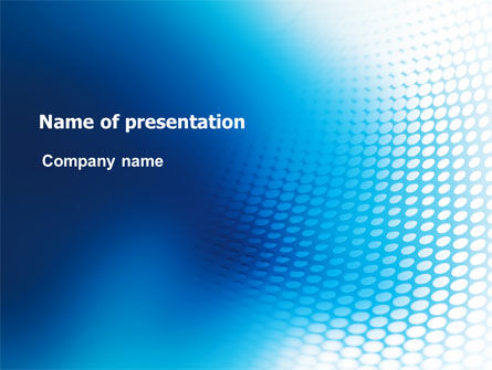 Blue Grid Background PowerPoint Template, 06973, Abstract/Textures — PoweredTemplate.com