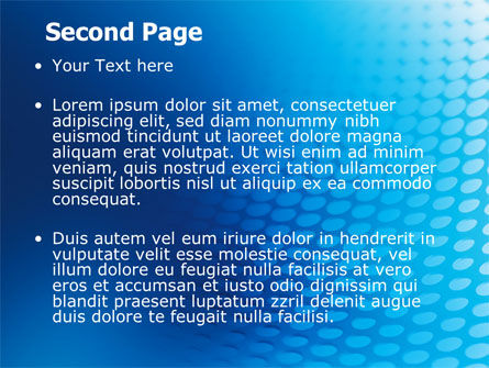 Blue Grid Background PowerPoint Template, Slide 2, 06973, Abstract/Textures — PoweredTemplate.com