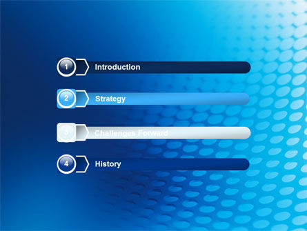 Blue Grid Background PowerPoint Template Slide 3