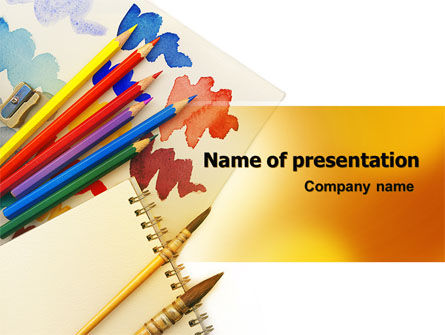 Education & Training: Drawing Lessons PowerPoint Template #06974