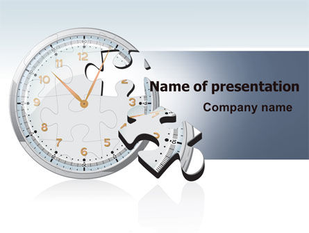Consulting: Time Shortage PowerPoint Template #06975