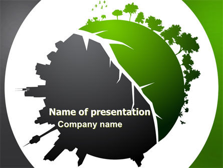 Nature & Environment: Urbanization PowerPoint Template #06976