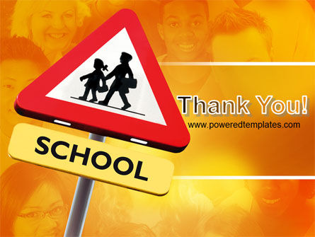 Sign Of School Crossing PowerPoint Template Slide 20