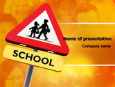 Education & Training: Sign Of School Crossing PowerPoint Template #06977