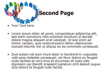 Figure Eight PowerPoint Template, Slide 2, 06978, Business — PoweredTemplate.com