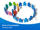 Business: Figure Eight PowerPoint Template #06978