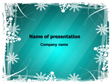 Winter Frame Background Powerpoint Template, Backgrounds | 06980