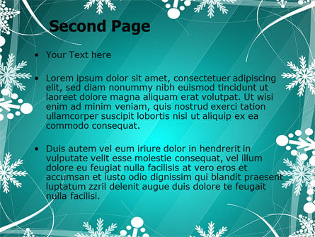 Winter Frame Background PowerPoint Template Slide 2