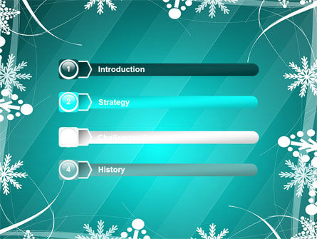 Winter Frame Background PowerPoint Template Slide 3