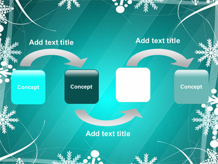 Winter Frame Background PowerPoint Template Slide 4