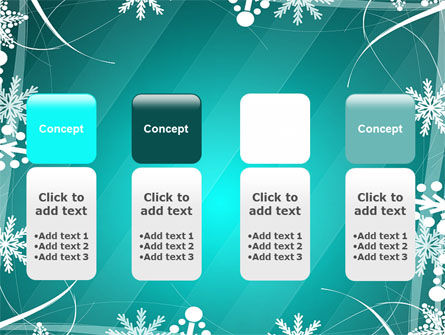 Winter Frame Background PowerPoint Template Slide 5