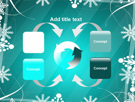 Winter Frame Background PowerPoint Template Slide 6