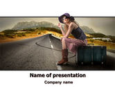 People: Hitchhiker PowerPoint Template #06981