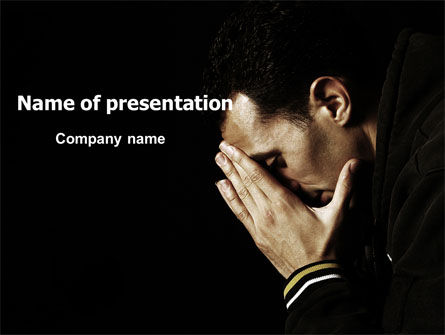 People: Distress PowerPoint Template #06983