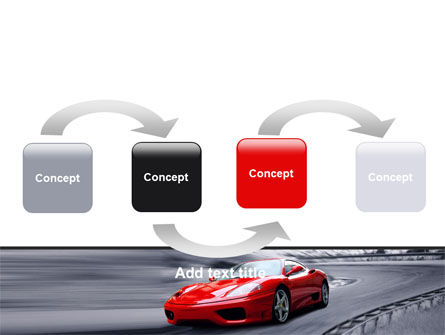 Red Sports Car PowerPoint Template, Slide 4, 06984, Cars and Transportation — PoweredTemplate.com