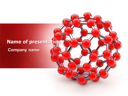 Technology and Science: Molecular Structure Of Fullerene PowerPoint Template #06985