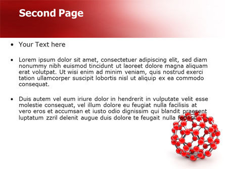Molecular Structure Of Fullerene PowerPoint Template, Slide 2, 06985, Technology and Science — PoweredTemplate.com