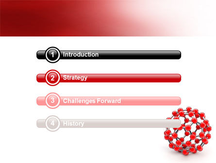 Molecular Structure Of Fullerene PowerPoint Template, Slide 3, 06985, Technology and Science — PoweredTemplate.com
