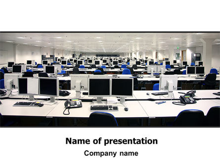 IT Office Space PowerPoint Template, 06986, Careers/Industry — PoweredTemplate.com