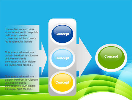 Blue and Green PowerPoint Template Slide 11
