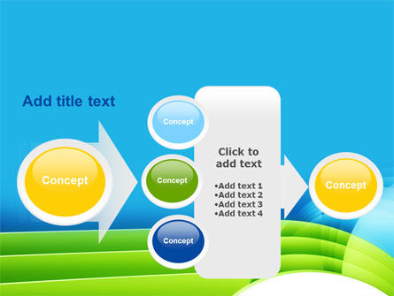 Blue and Green PowerPoint Template Slide 17