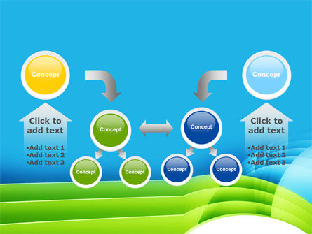 Blue and Green PowerPoint Template Slide 19