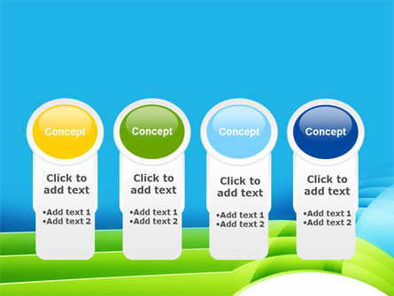 Blue and Green PowerPoint Template Slide 5