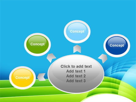 Blue and Green PowerPoint Template Slide 7