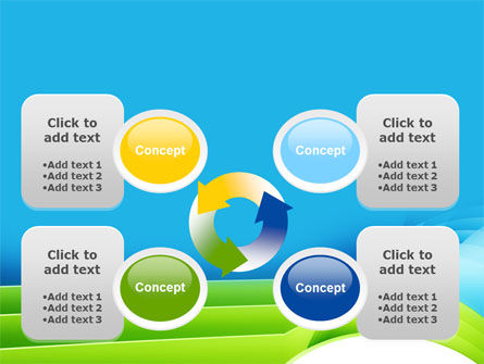Blue and Green PowerPoint Template Slide 9