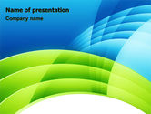 Abstract/Textures: Blue and Green PowerPoint Template #06987