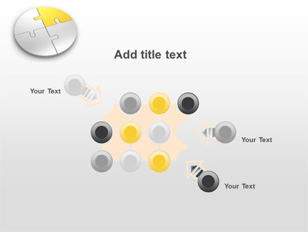 Round Puzzle PowerPoint Template Slide 10