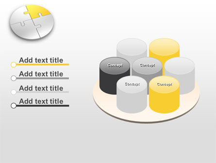 Round Puzzle PowerPoint Template Slide 12