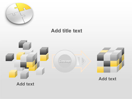 Round Puzzle PowerPoint Template Slide 17