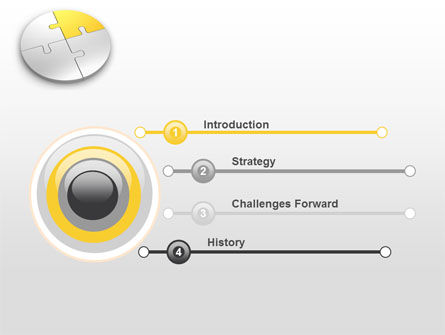Round Puzzle PowerPoint Template, Slide 3, 06988, Consulting — PoweredTemplate.com