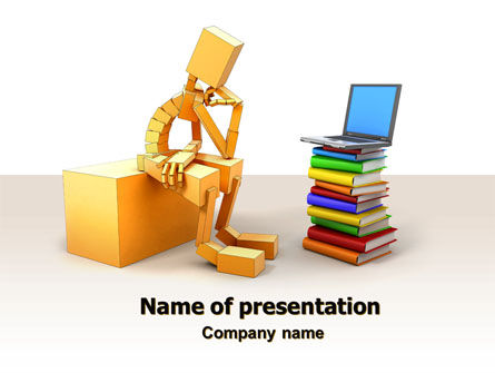 Education & Training: Computer Training PowerPoint Template #06990