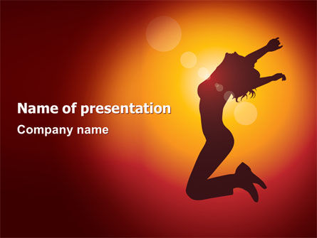Art & Entertainment: Happy Girl PowerPoint Template #06991