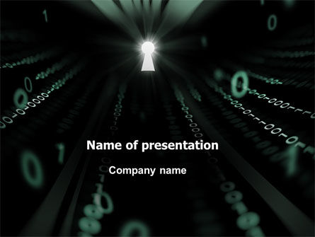 Technology and Science: Computer Code Key PowerPoint Template #06992