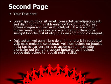 Round Dance On A Red Field PowerPoint Template Slide 2