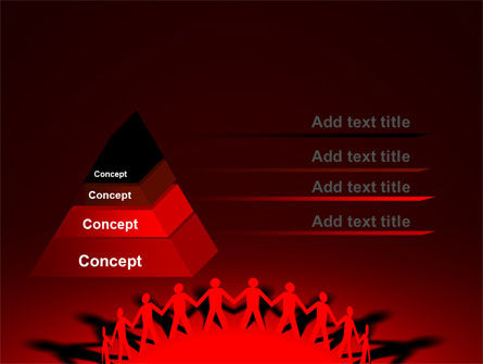 Round Dance On A Red Field PowerPoint Template Slide 4
