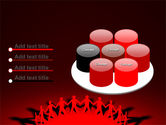 Round Dance On A Red Field PowerPoint Template#12