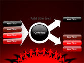Round Dance On A Red Field PowerPoint Template#15