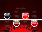 Round Dance On A Red Field PowerPoint Template#18