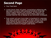 Round Dance On A Red Field PowerPoint Template#2