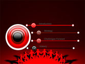 Round Dance On A Red Field PowerPoint Template#3