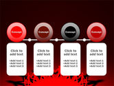 Round Dance On A Red Field PowerPoint Template#5