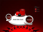Round Dance On A Red Field PowerPoint Template#6