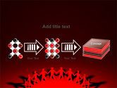 Round Dance On A Red Field PowerPoint Template#9