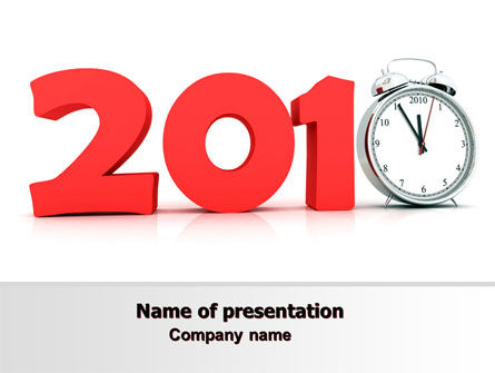 2010 Ticking PowerPoint Template, 06994, Holiday/Special Occasion — PoweredTemplate.com
