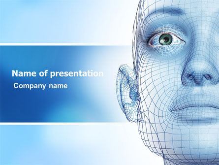 3D: Face Modeling PowerPoint Template #06995